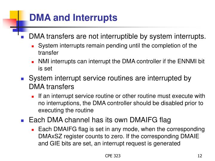 DMA and Interrupts