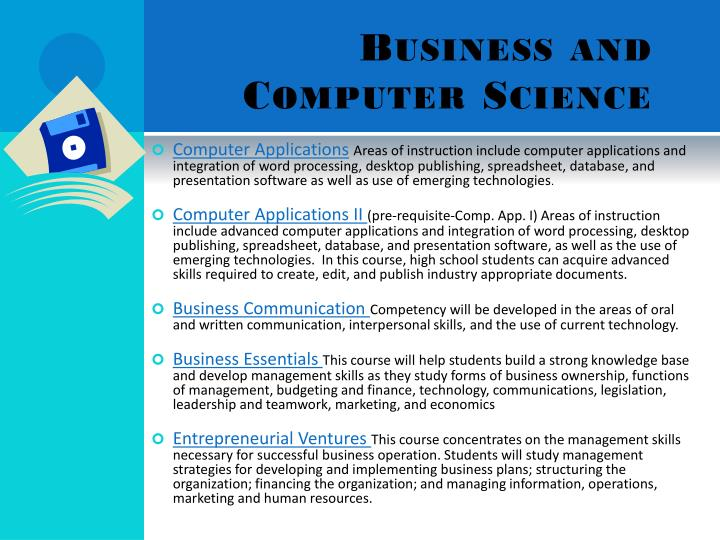 Business and Computer Science