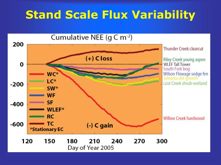 Stand Scale Flux Variability
