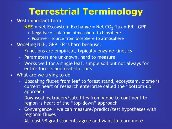 Terrestrial Terminology