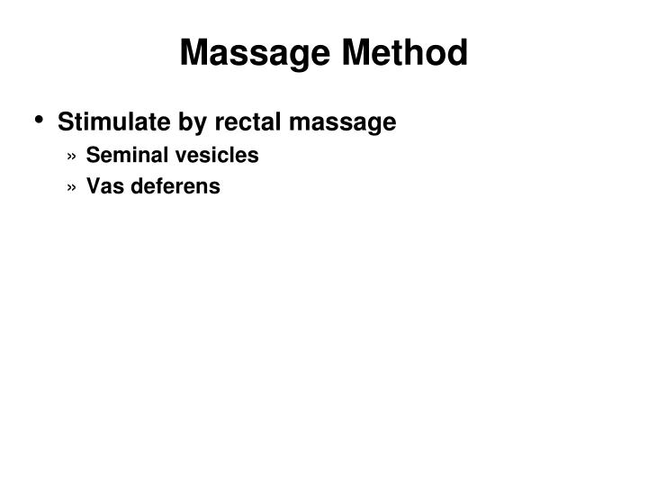 Massage Method