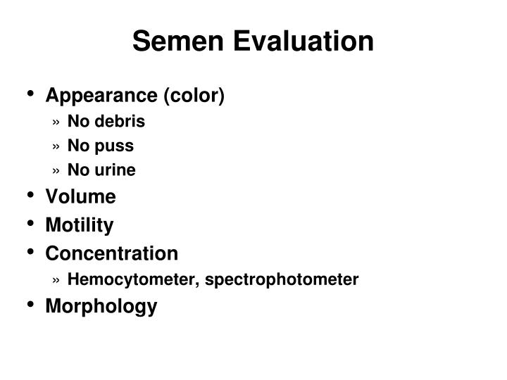 Semen Evaluation