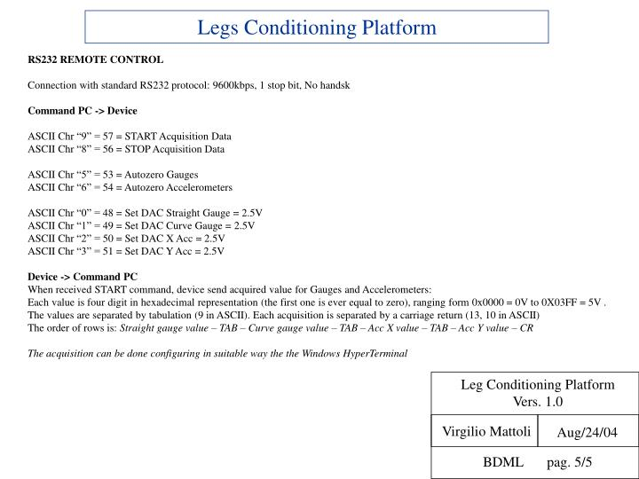 Leg Conditioning Platform