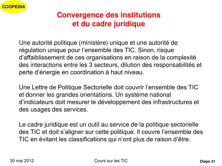 Convergence des institutions