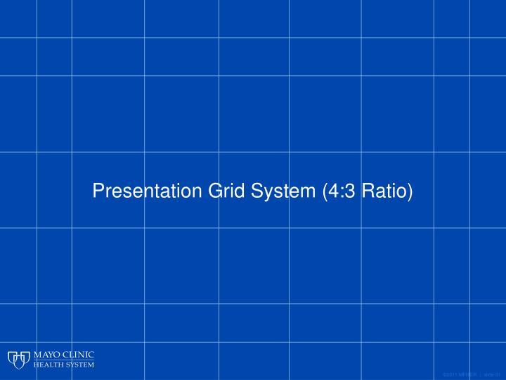 Presentation Grid System (4:3 Ratio)