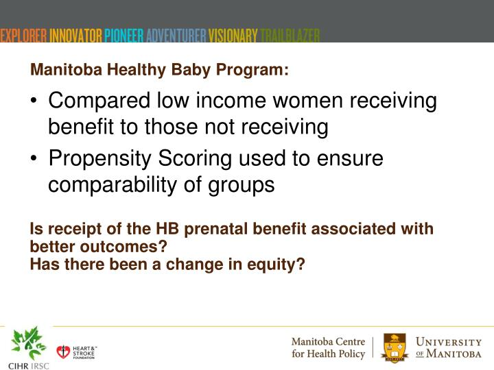 Manitoba Healthy Baby Program
