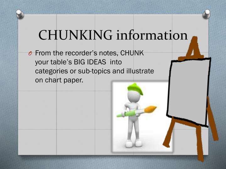 CHUNKING information