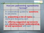 how are partnership agreements formed