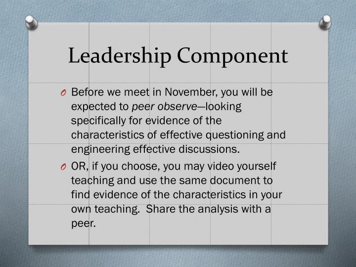 Leadership Component