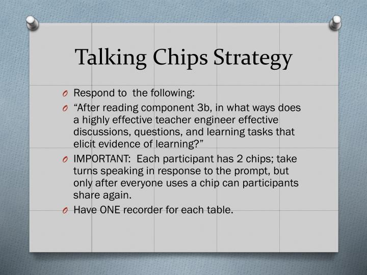 Talking Chips Strategy
