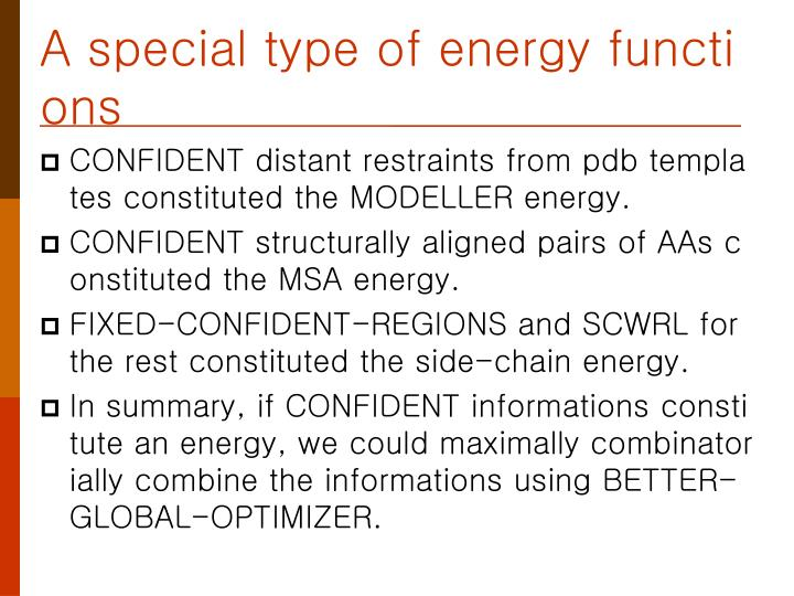 A special type of energy functions