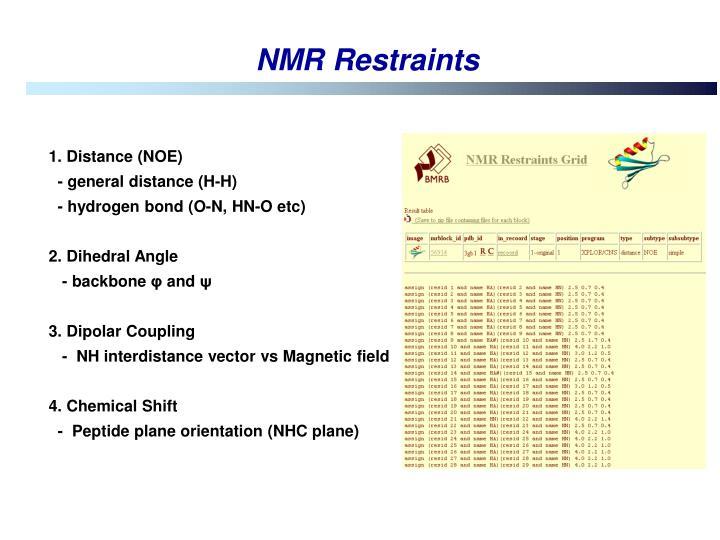 NMR Restraints