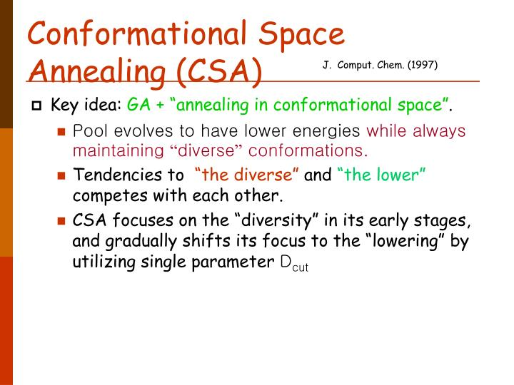 Conformational Space Annealing (CSA)