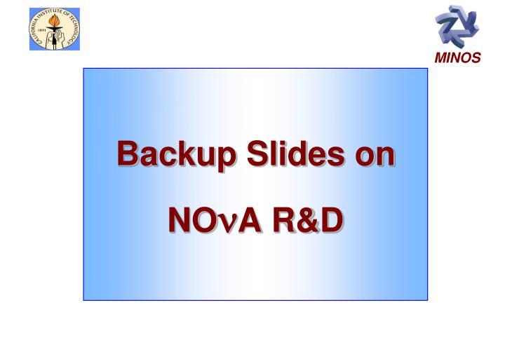 Backup Slides on NO