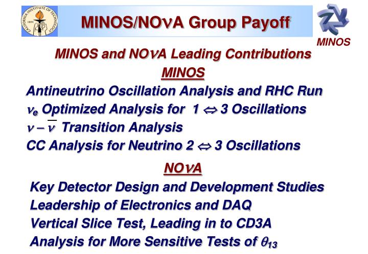 MINOS/NO