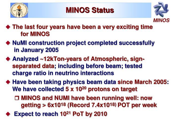 MINOS Status