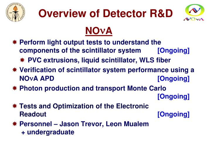 Overview of Detector R&D