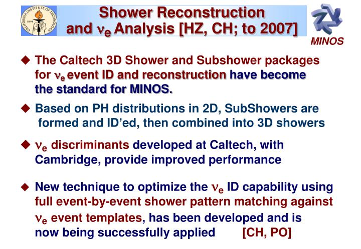 Shower Reconstruction