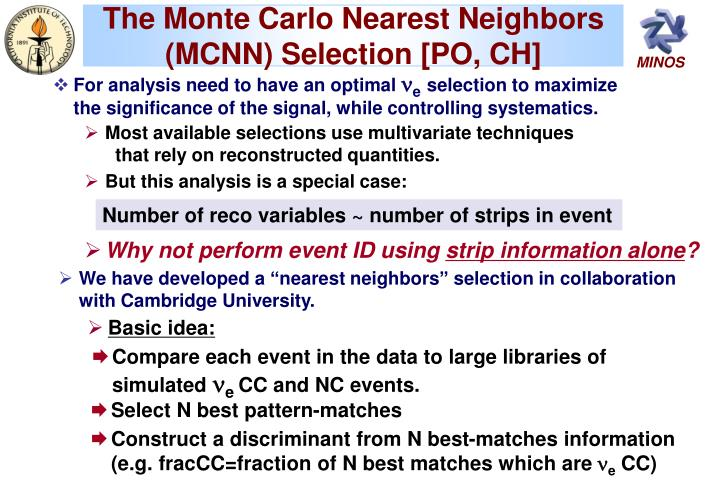 The Monte Carlo Nearest Neighbors (MCNN) Selection [PO, CH]
