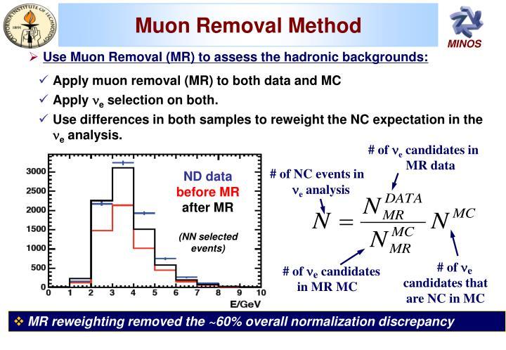 Muon Removal Method