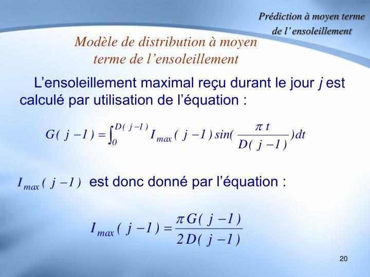 est donc donné par l'équation :