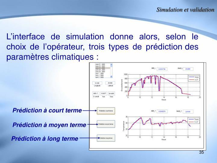 Simulation et validation