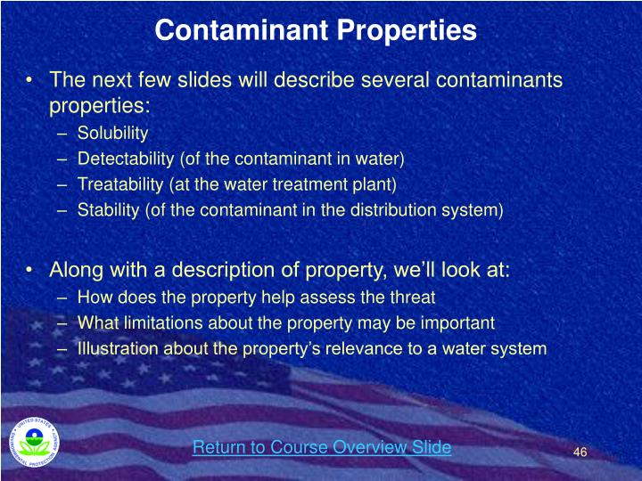 Contaminant Properties