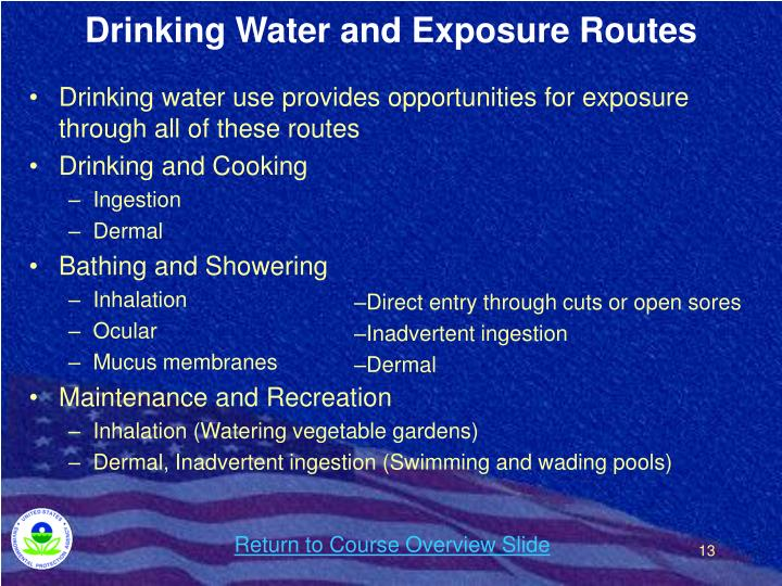 Drinking Water and Exposure Routes