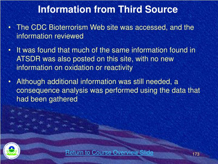 Information from Third Source