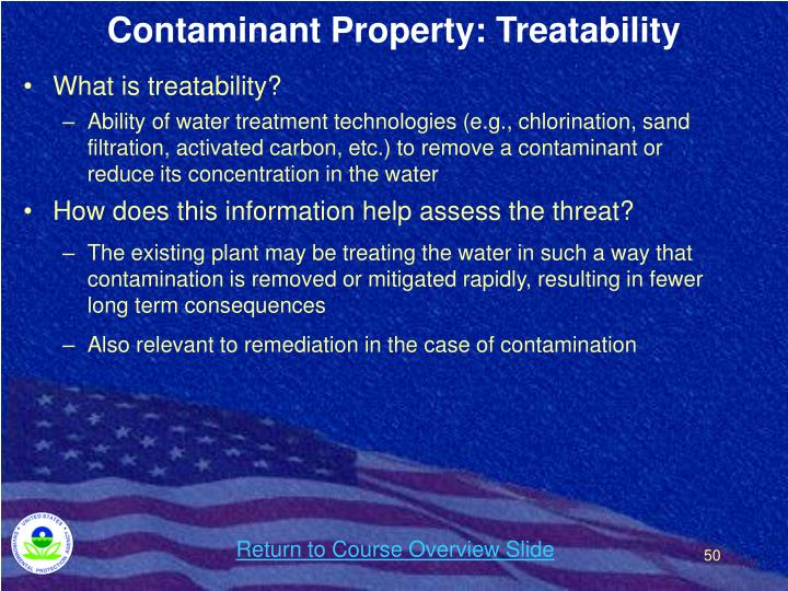 Contaminant Property: Treatability