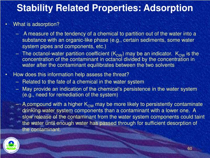 Stability Related Properties: Adsorption