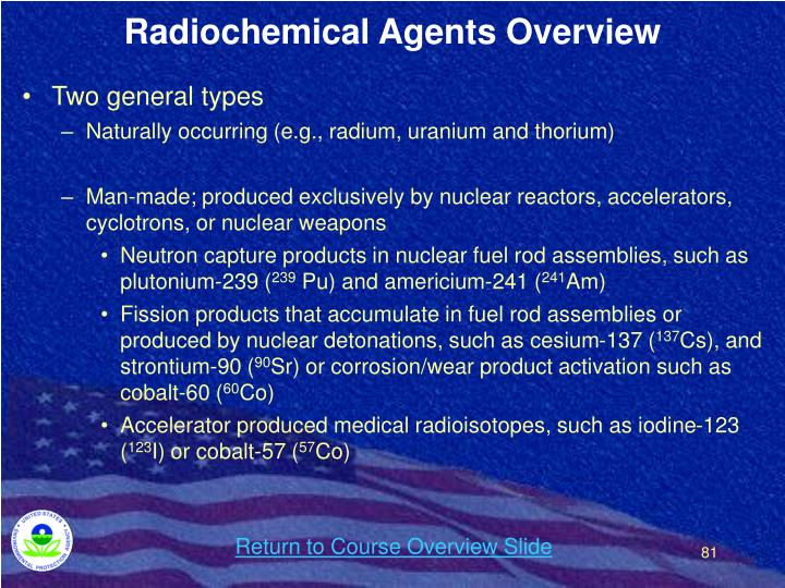 Radiochemical Agents Overview