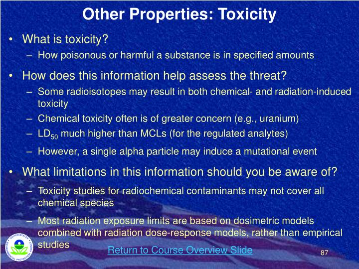 Other Properties: Toxicity