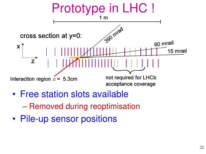 Prototype in LHC !