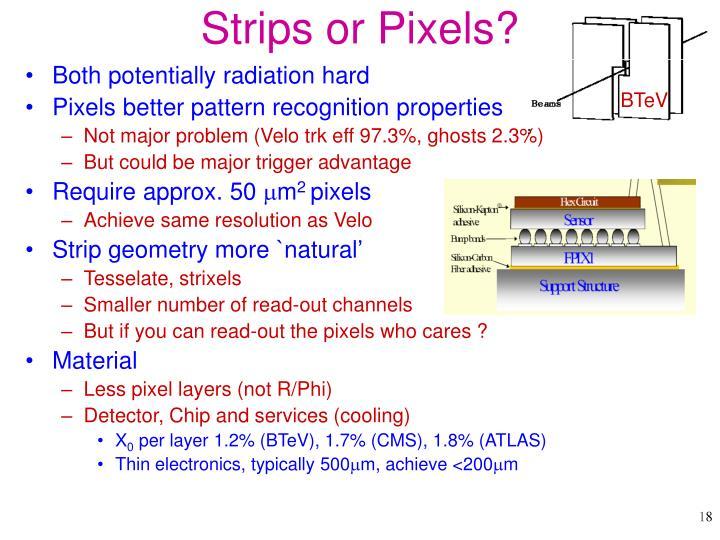 Strips or Pixels?