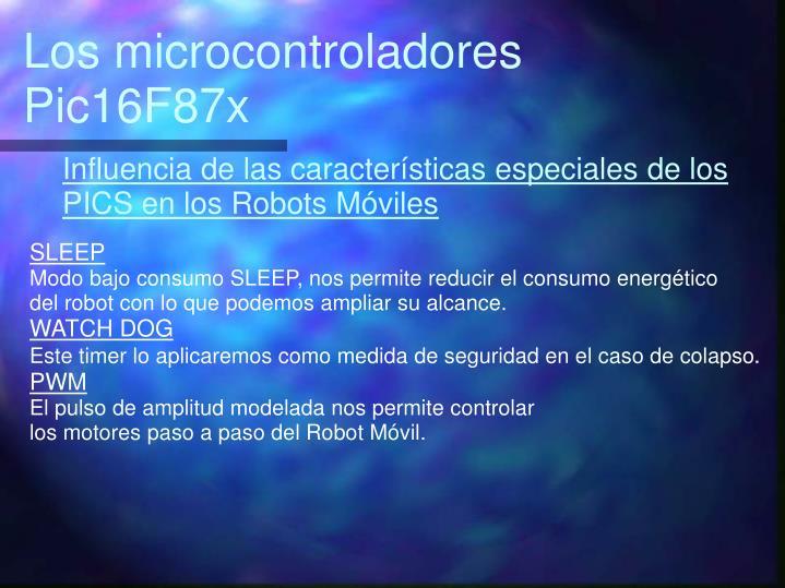 Los microcontroladores Pic16F87x