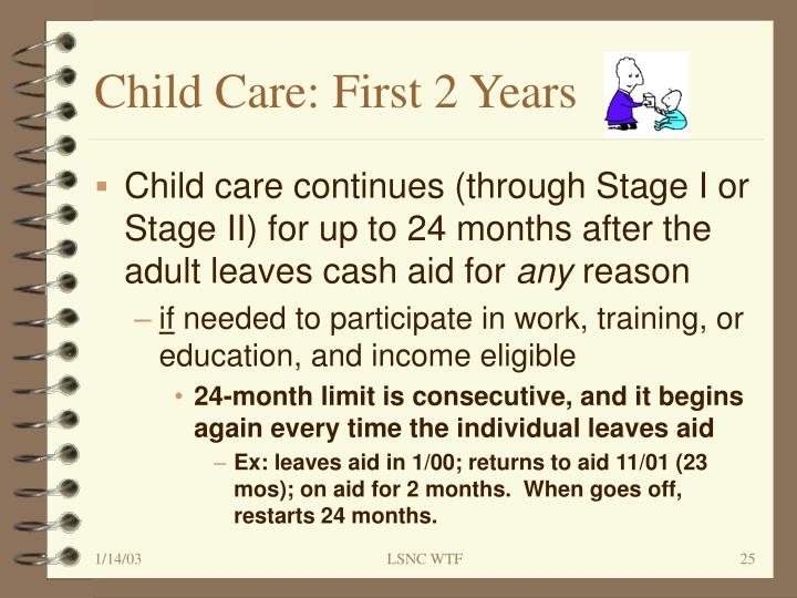Child Care: First 2 Years