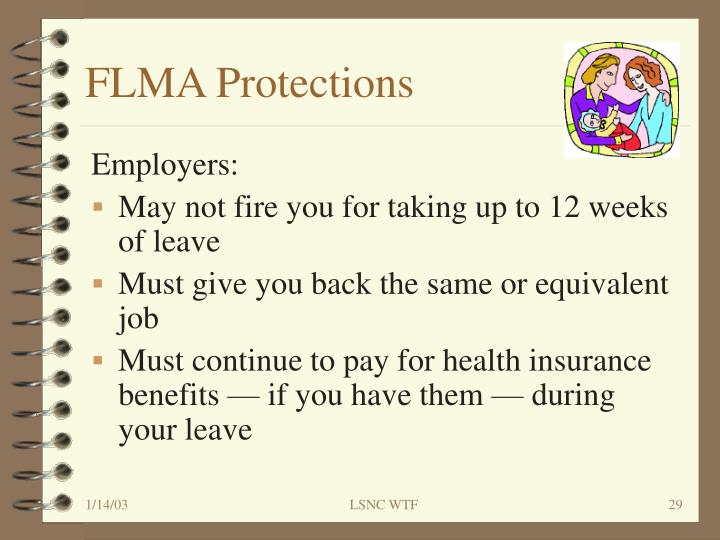 FLMA Protections