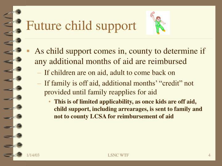 Future child support