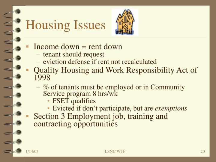 Housing Issues