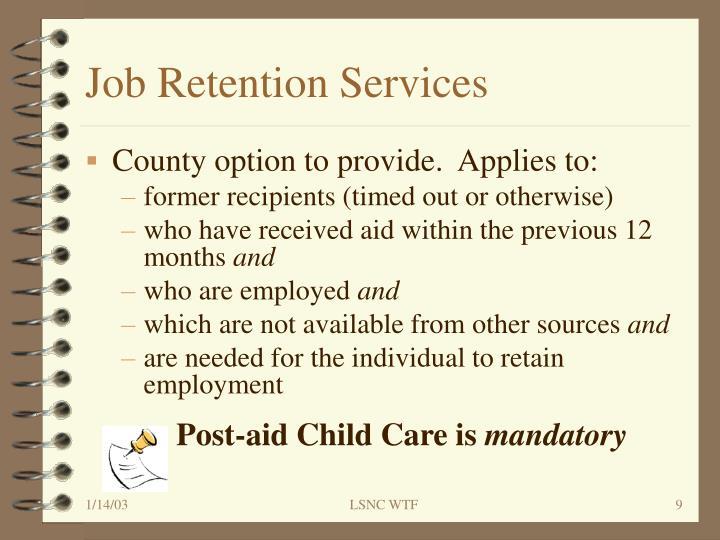 Job Retention Services