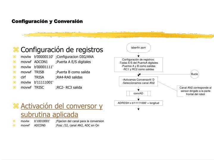Configuración y Conversión