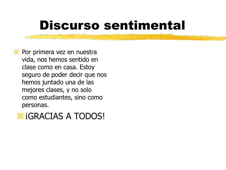 Discurso sentimental