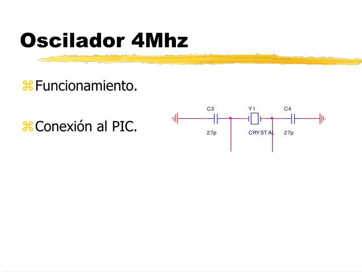 Oscilador 4Mhz