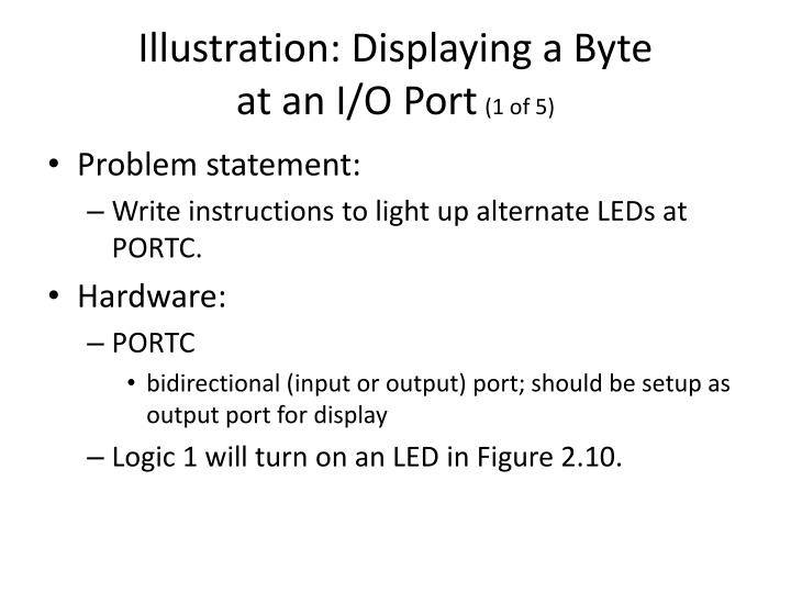Illustration: Displaying a Byte