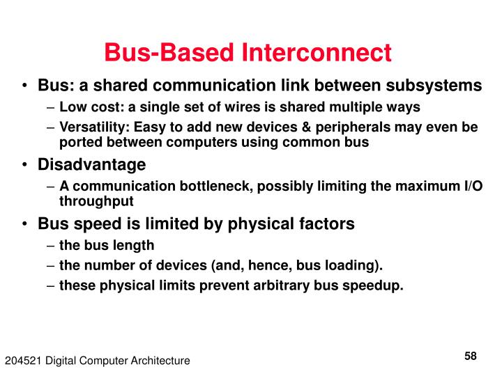 Bus-Based Interconnect