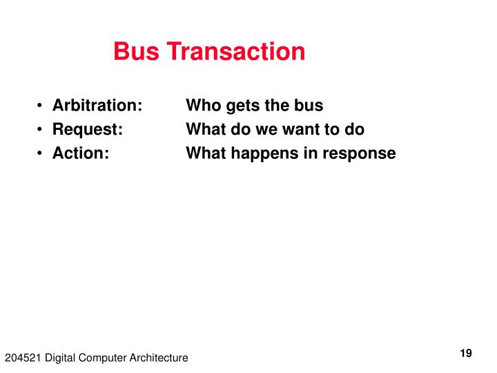 Bus Transaction