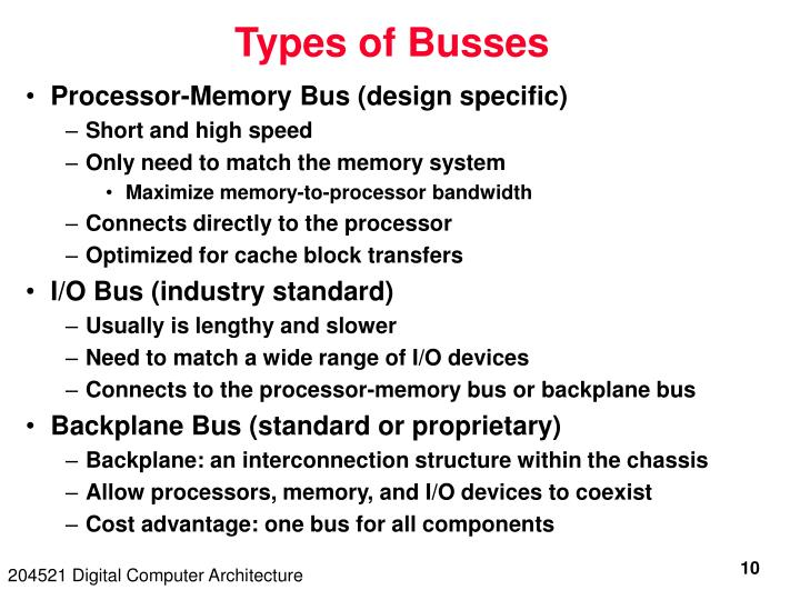 Types of Busses