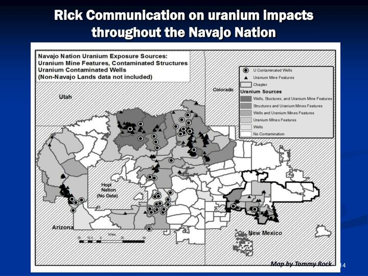 Rick Communication on uranium impacts throughout the Navajo Nation