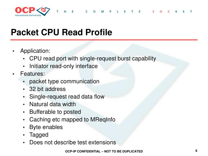 Packet CPU Read Profile